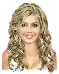 Long wavy light golden hairstyle