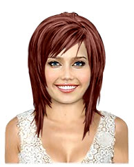 Dark red bob