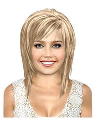 Honey blonde bob