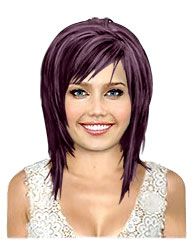 Dark violet bob