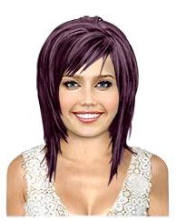 Dark violet bob