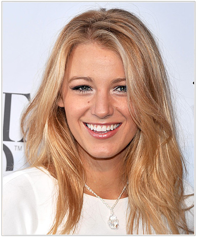 Blake Lively Long Straight Blonde Hairstyle