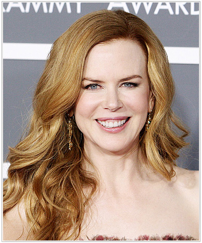 Nicole Kidman Long Wavy Blonde Hairstyle
