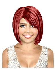 Ruby red bob