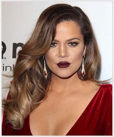 Kardashian Long Wavy Hairstyle
