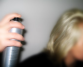 Hairsprayfinishing