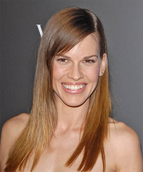 Hairstyles Rectangular Faces : Celebrity Hairstyle Gallery: Hilary Swank Hairstyle