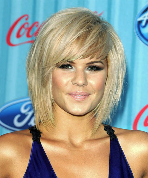 Kimberly Caldwell – Long Bob Hairstyle