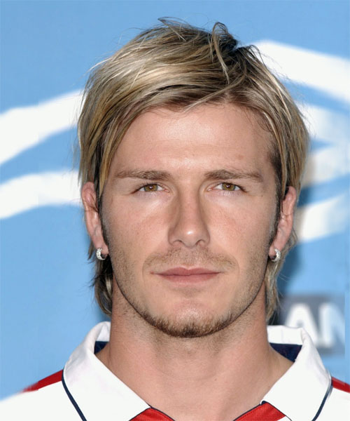 David Beckham Hairstyle With Oblong Face Shapes
