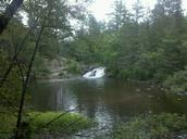A breathtakng view of 12 Foot Falls waterfall area in Amberg, Wis. (Photo by Cindy Adamski)