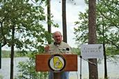 Former Georgia Gov. Sonny Perdue at dedication ceremonies for state's acquisition of the property.