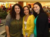 Alumni troop #243 JenniLynn Hughes, Danielle Brant and Jessica Osborne share a 'Golden Friendship'.