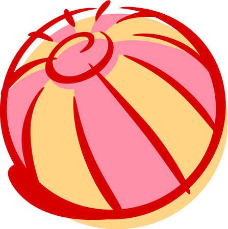 Cartoon Beach Ball