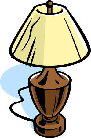 Drawing of a table lamp  Table Lamp Clipart
