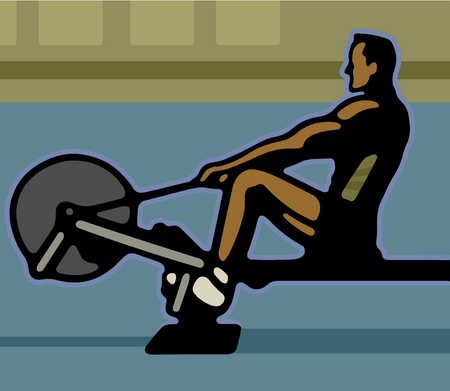 Rowing machine clipart