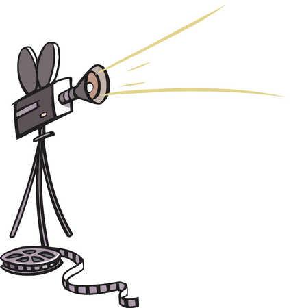 Movie Film Camera Clip Art Of a movie camera and film