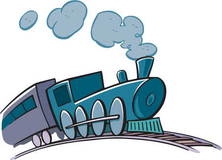 Stock Illustration - Drawing of a train