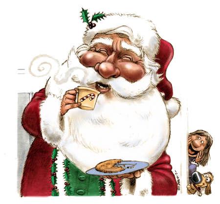 White Chocolate Santa Claus