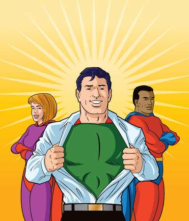 Three Diverse Superheroes