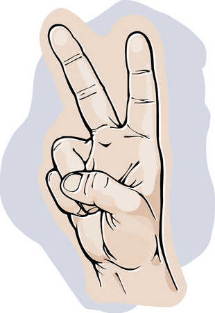 Peace fingers clip art