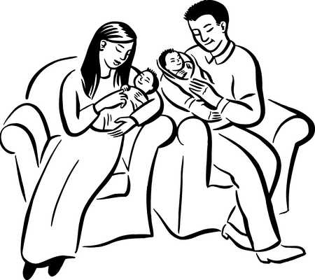 Mom Dad And Baby Drawing Keywords Babies Baby Birth
