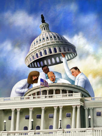 Scientists looking under dome of United States Capitol building