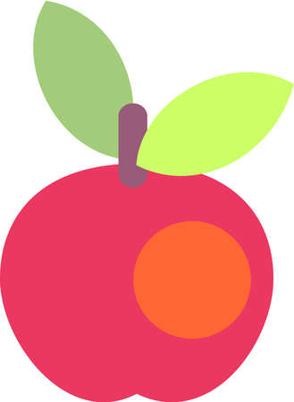 Stock Illustration Cartoon Drawing Of A Red Apple