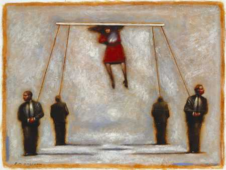 Businesspeople On Strings