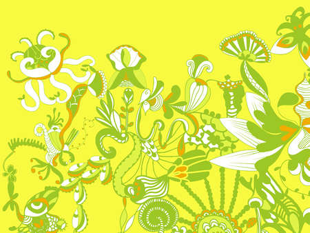 Color Floral Background Background Bold Color