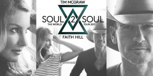 Tim McGraw & Faith Hill Soul2Soul Concert Tickets