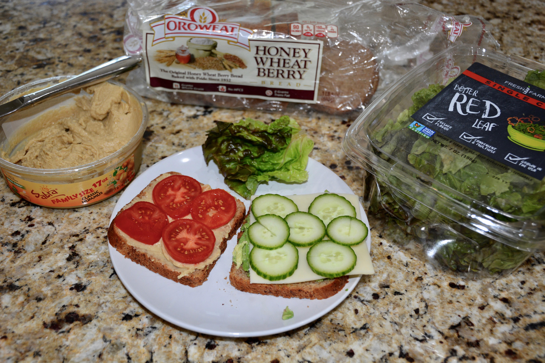 Wheat Veggie Sandwich 2