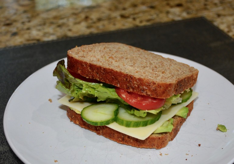 Wheat Veggie Sandwich 3