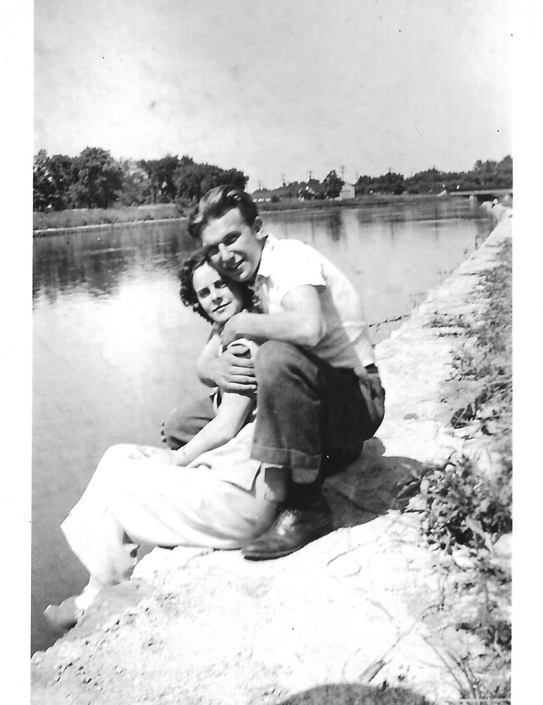Grammie and Gpa at lake 1