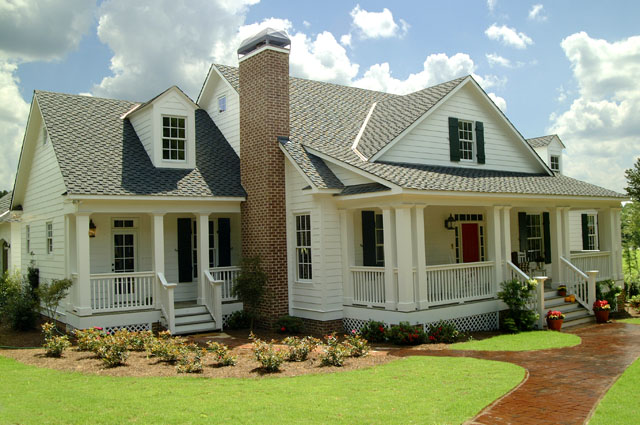 Southern living house plans farmhouse house plans for One level farmhouse house plans