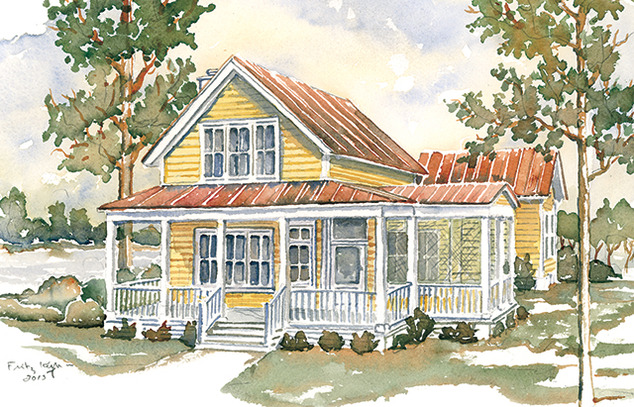 Turtle lake cottage moser design group southern living for Southern cottage house plans with photos
