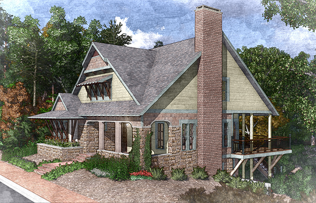 English tudor house plans southern living house plans for Tudor cottage plans