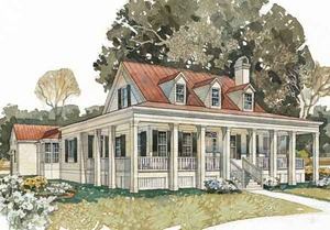 Tidewater Low Country House Plans   Sunset House PlansBayside Homestead SL