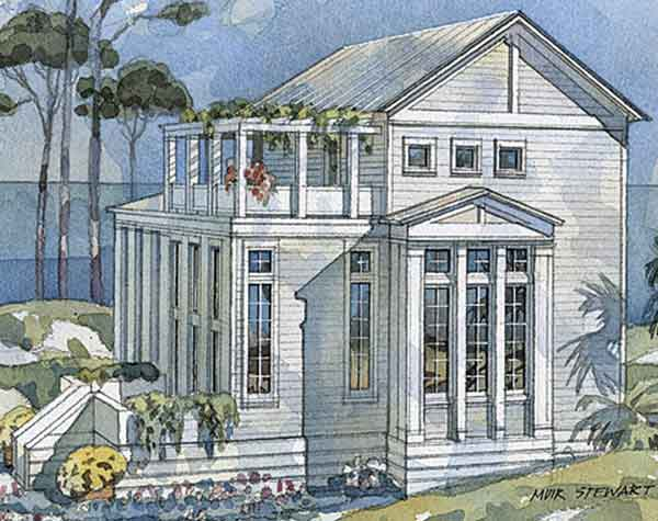 Classical retreat coastal living southern living house for Coastal living house plans