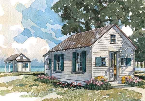 Boathouse bunkhouse coastal living southern living for Coastal living cottage plans