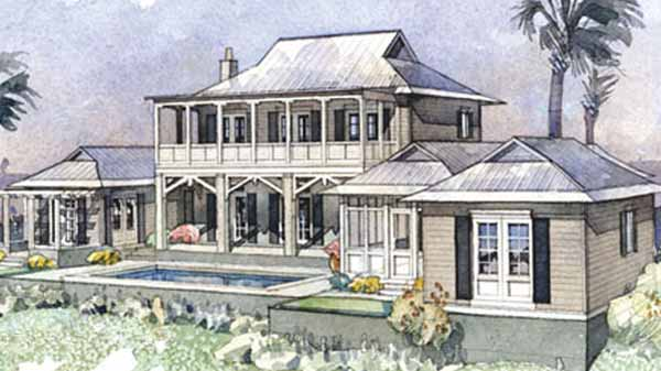 Palm garden retreat coastal living southern living Coastal living house plans