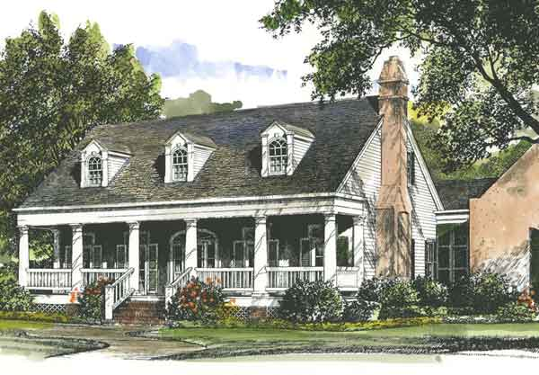 Louisiana garden cottage john tee architect southern for House plans louisiana architects
