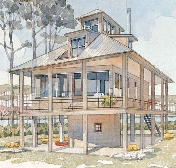 Top 10 house plans coastal living for Beach house designs living upstairs