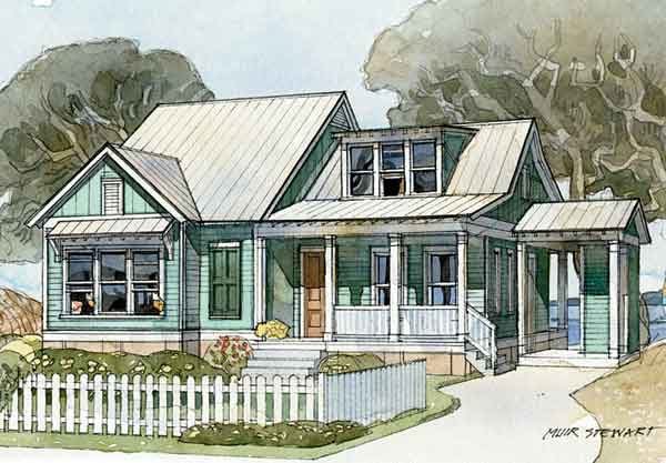 Harborside cottage caldwell cline architects print for Coastal living house plans