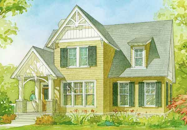 Ellsworth cottage caldwell cline architects southern for Small southern cottage house plans