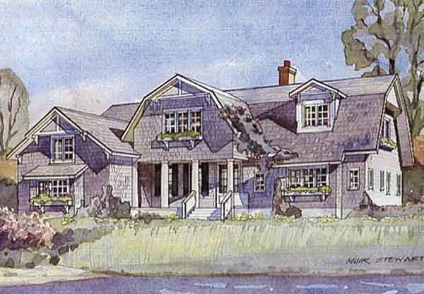 Bayside classic coastal living southern living house plans for Coastal living house plans