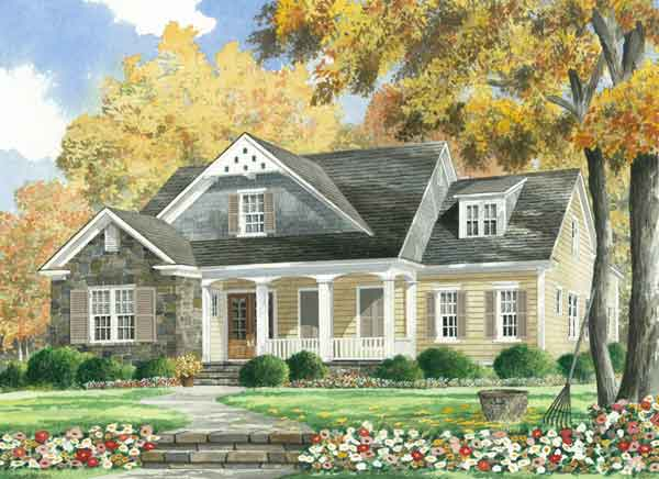 Thornhill cottage mitchell ginn southern living house for Southern living cottage floor plans