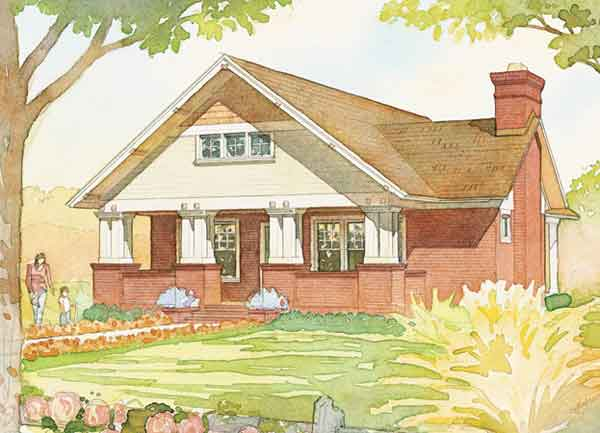 Craftsman bungalow cottage living southern living for Southern craftsman home plans