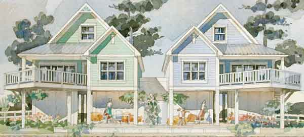 Double vision clay adams southern living house plans for Coastal living house plans