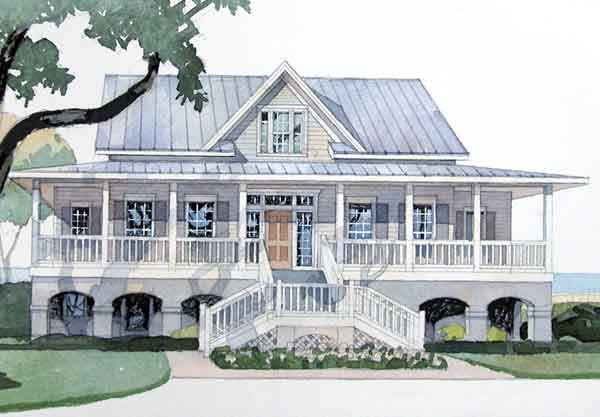 Georgia river house cowart group southern living house for Coastal living house plans