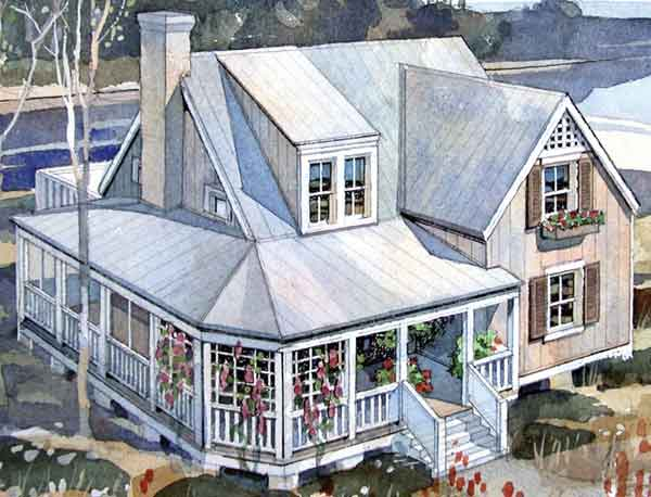 Rustic beach cottage coastal living southern living Coastal living house plans